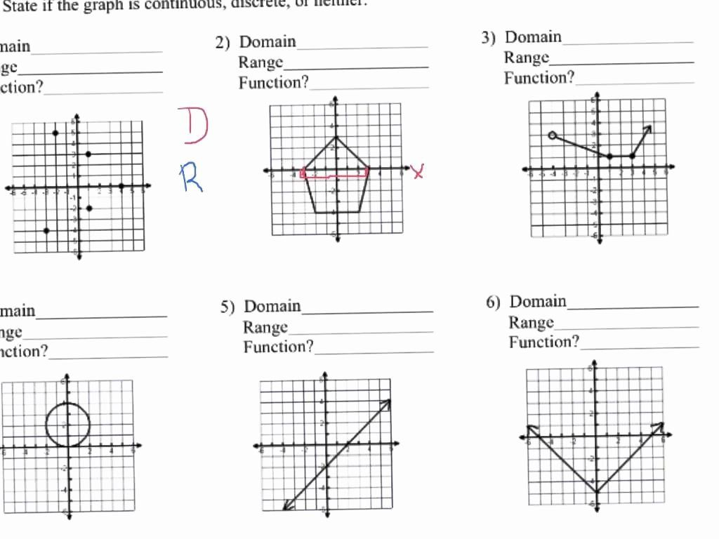 Domain And Range Graph Worksheet With Answers Luxury