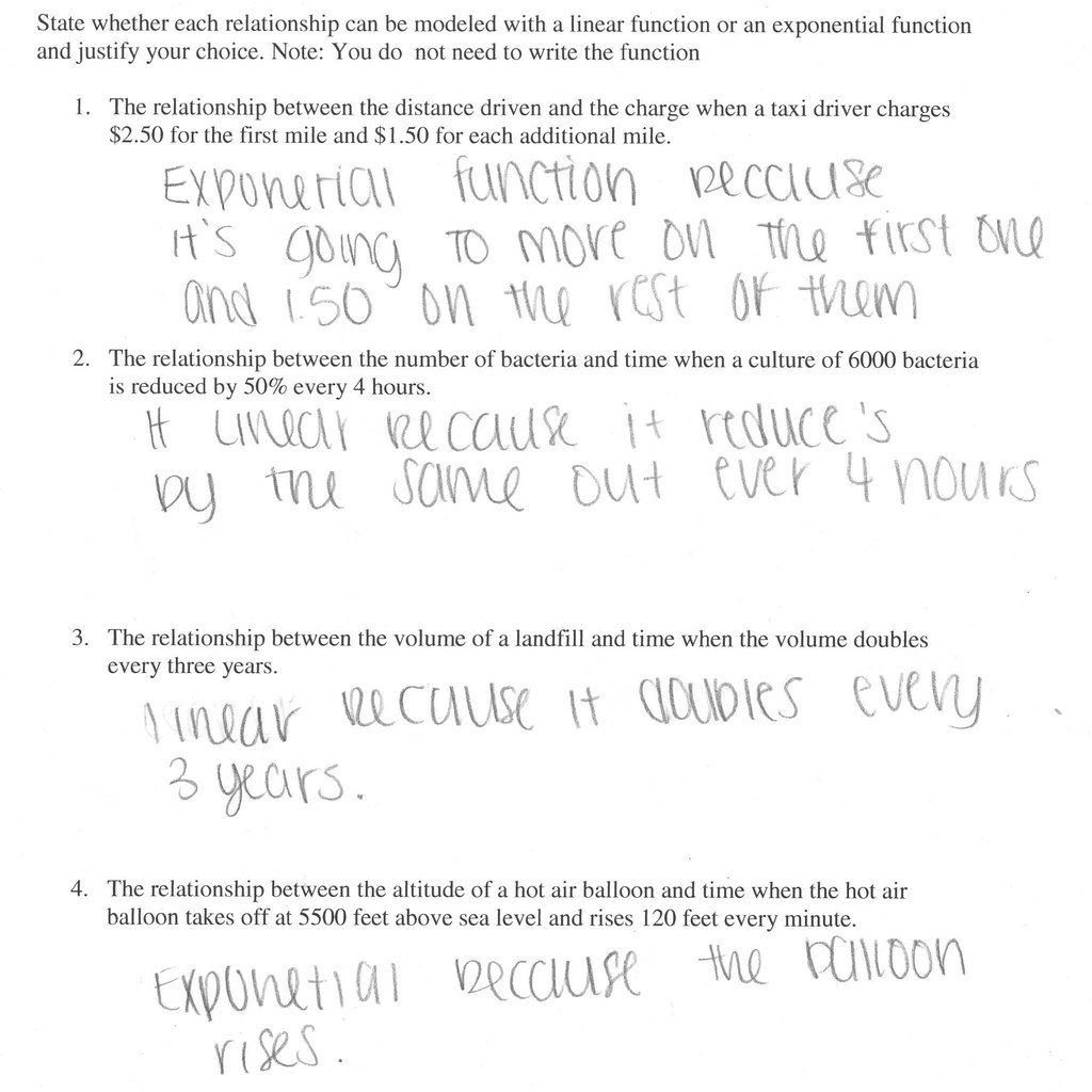 Exponential Function Growth And Decay Worksheet - Worksheet List