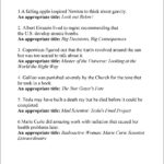 Famous Last Words Math Worksheet Answers   Printable