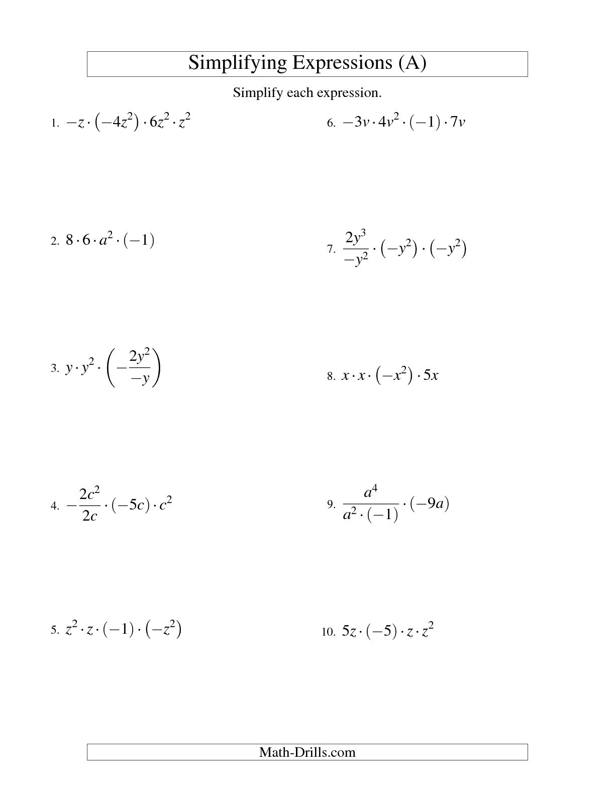 Finding The Variable Worksheet   Printable Worksheets And