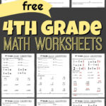 Free 4Th Grade Math Worksheets Printable Workbook Answers