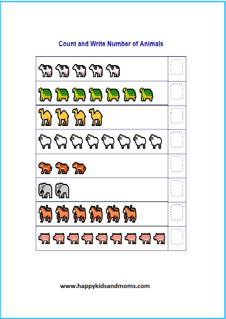 Free Pre Math Counting Worksheets Happy Kids And Moms Prek