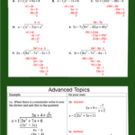 Free Worksheets On How To Divide Polynomials. The Advanced