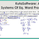 Kutasoftware: Algebra 2- Systems Of Equations Word Problems Part 1