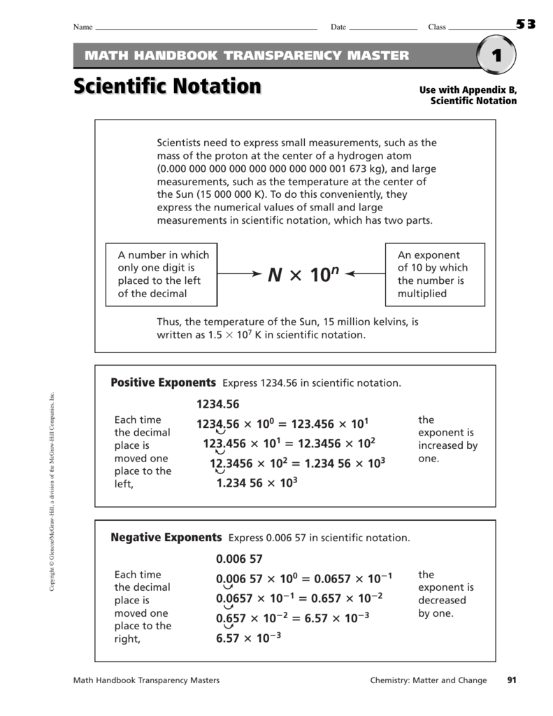 Marvelous Operations With Scientific Notation Worksheet