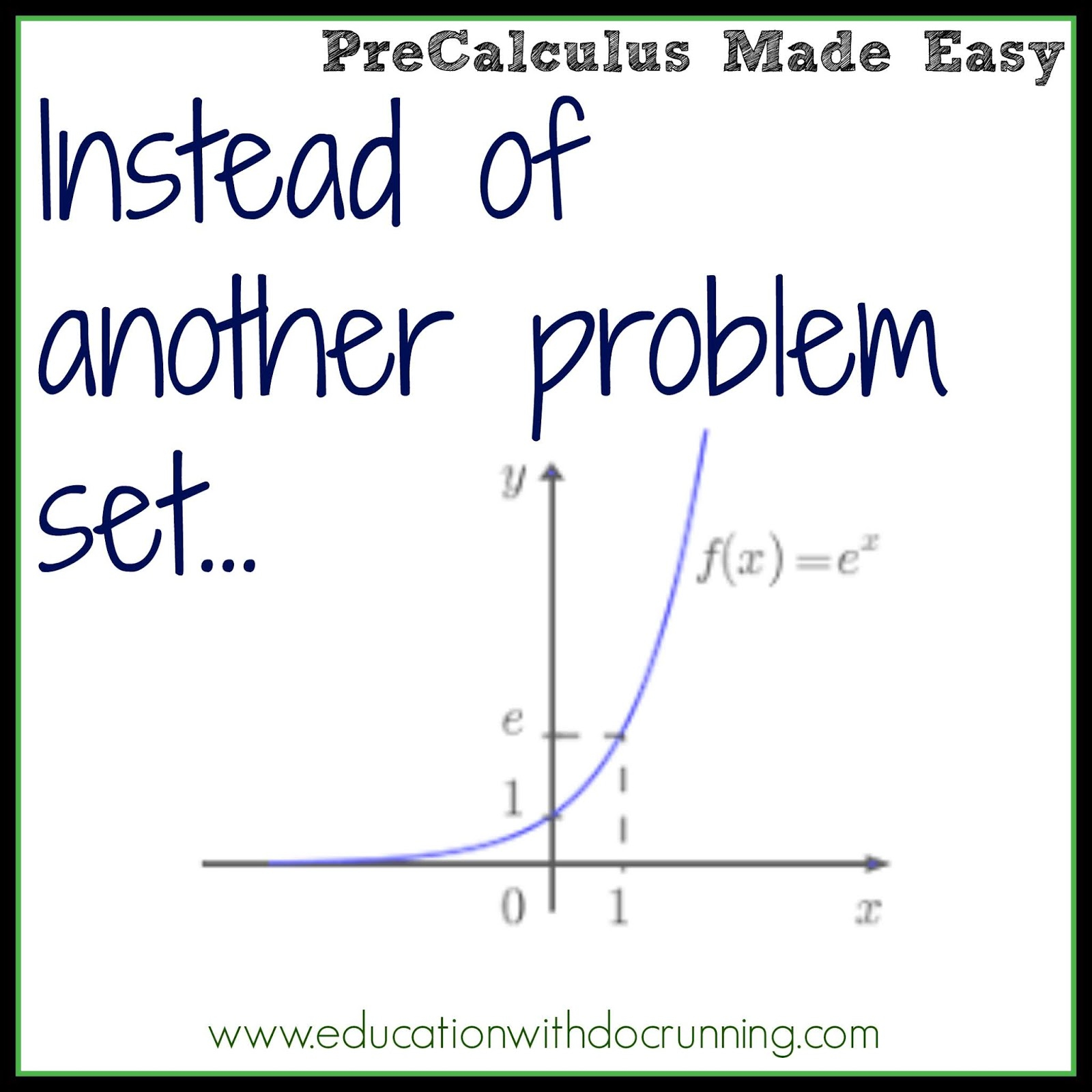 Math Mondays: Graphing Exponential Functions Worksheet