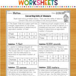 Math Worksheets - Your 4Th Grade Students Will Master The