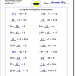 Mixed Multiplication And Division Pre-Algebra Worksheets