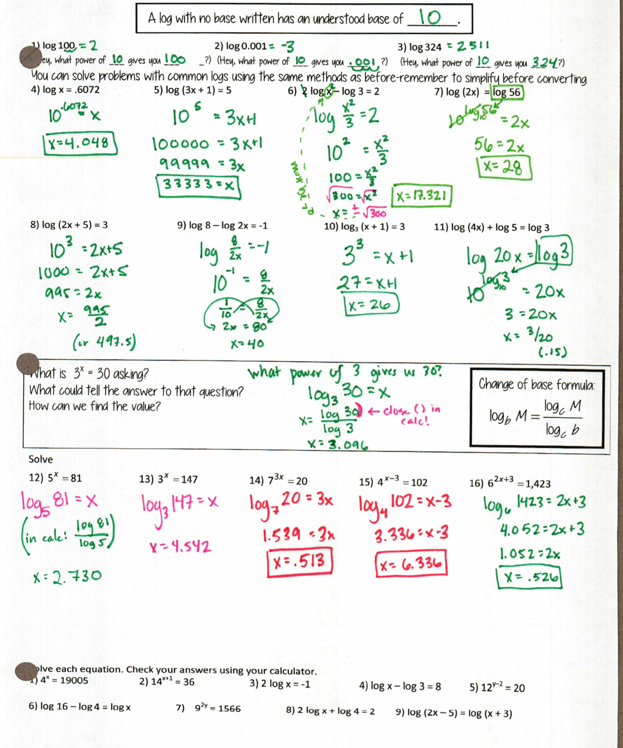 More Logs! – Insert Clever Math Pun Here