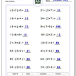 Order Of Operations With Parentheses Worksheet #order #of