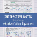 Solving Absolute Value Equations   Absolute Value Equations