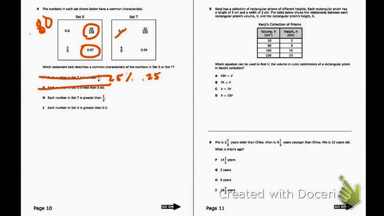 Staar Review--6Th Grade (Items 1-6)
