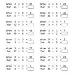 The Inverse Relationships -- Multiplication And Division