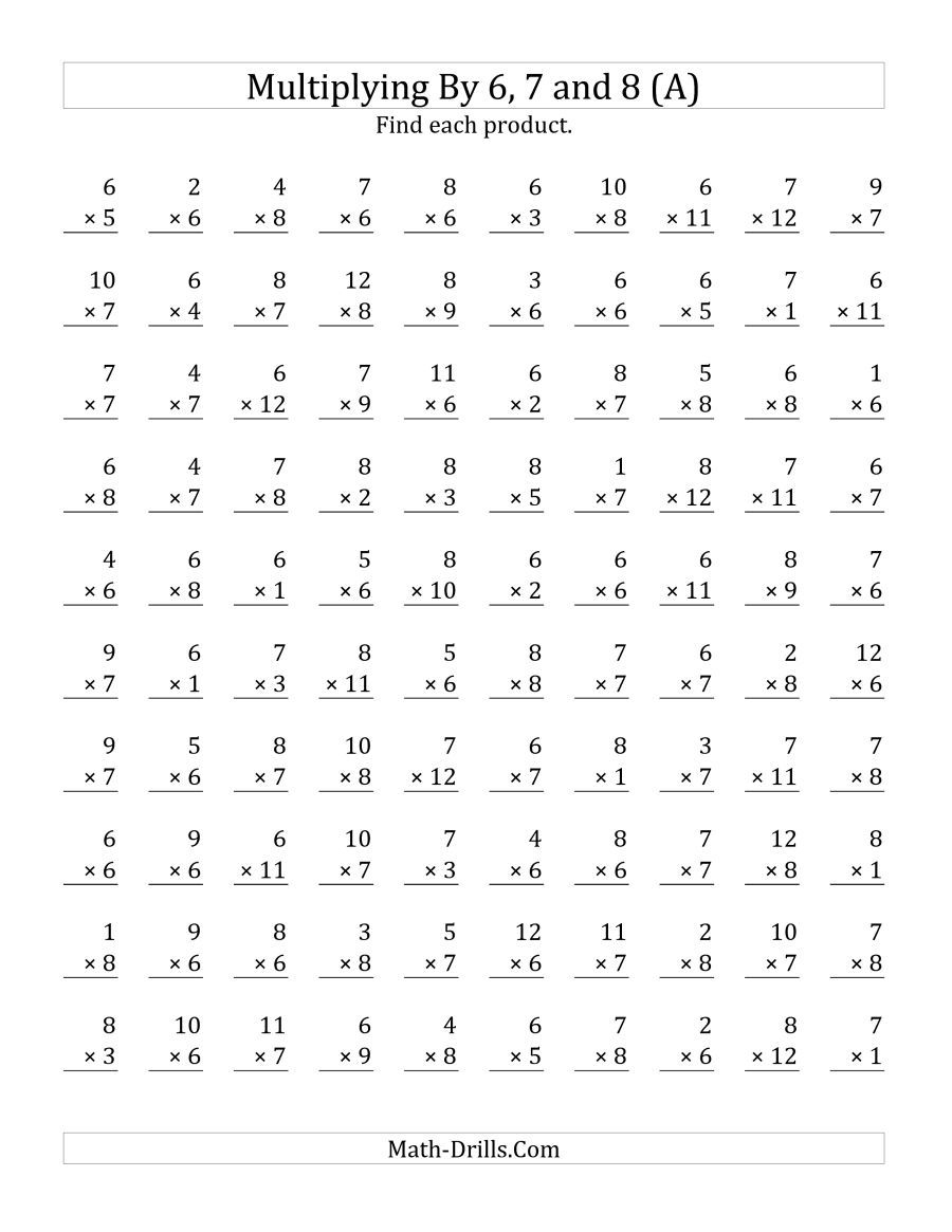 The Multiplying Toand Math Worksheet Free Worksheets For