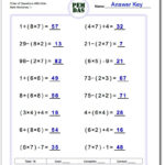 The Order Of Operations Worksheets In This Section Provide