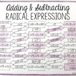 This Is A Maze Composed Of 14 Radical Expressions That Must