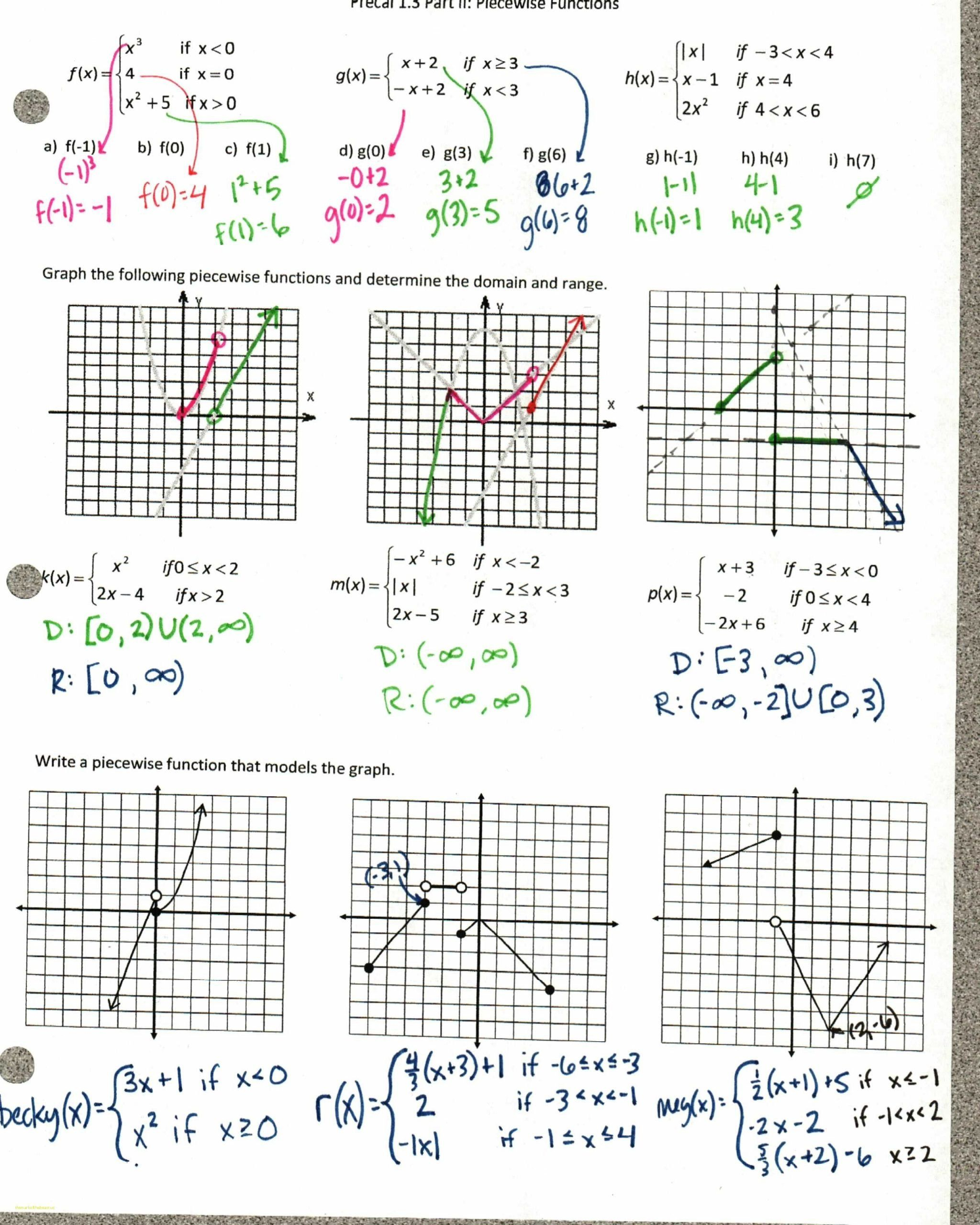 Transformations Of Quadratic Functions Worksheet 35 Clever