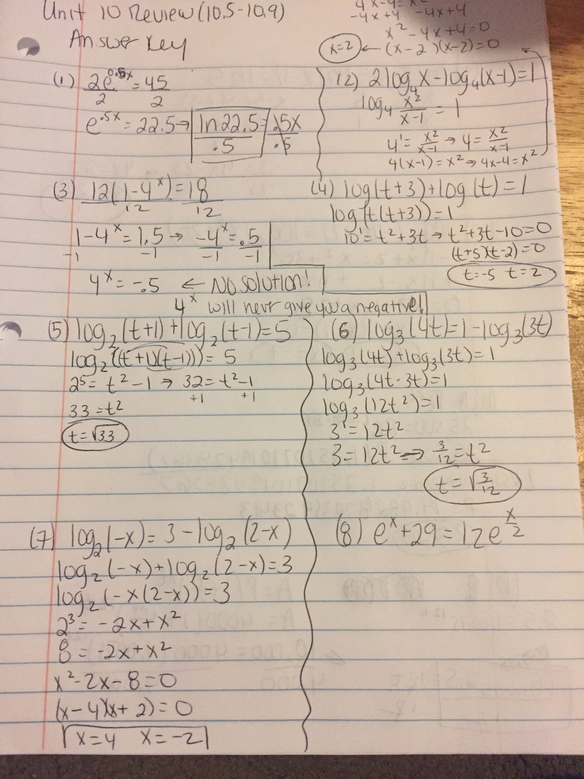 Unit 10 Exponential And Logarithmic Functions – Mazzeomath