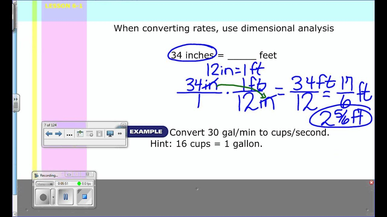 Unit Rates - Grade 7 (Solutions, Examples, Worksheets