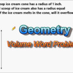 Volume Of Cones And Spheres - Word Problem