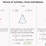 Volume Of Cylinders, Cones And Spheres 1 (8.g.9)