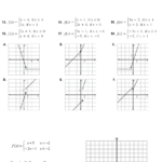 Worksheet: Piecewise Funct Functions Ws  Write Equations